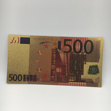 500 euro 24 K oro papel falso colorido billete