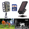 8G RD1001 Wildlife Digital Infrared Trail Hunting Scouting Camera+6V Solar Panel