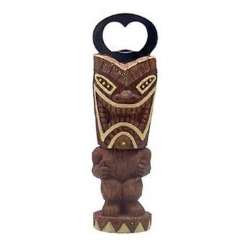 China Wholesale Handicraft Resin Tiki Wine Bottle Opener