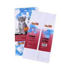 seal plastic flexible pet cat food pouch laminated printed plastic packaging logo bag material manufacturers