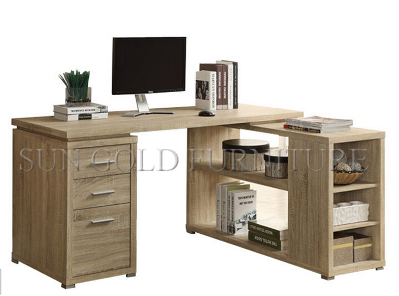 Modern High Quality Office Furniture ,Office Desk With Drawers ,Wooden  Office Computer Desk With Side Table(SZ OD463)