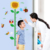 sunflower children's height decorative wall sticker Kindergarten Height Growth Chart Kids DIY Sticker Rooms Home Decor