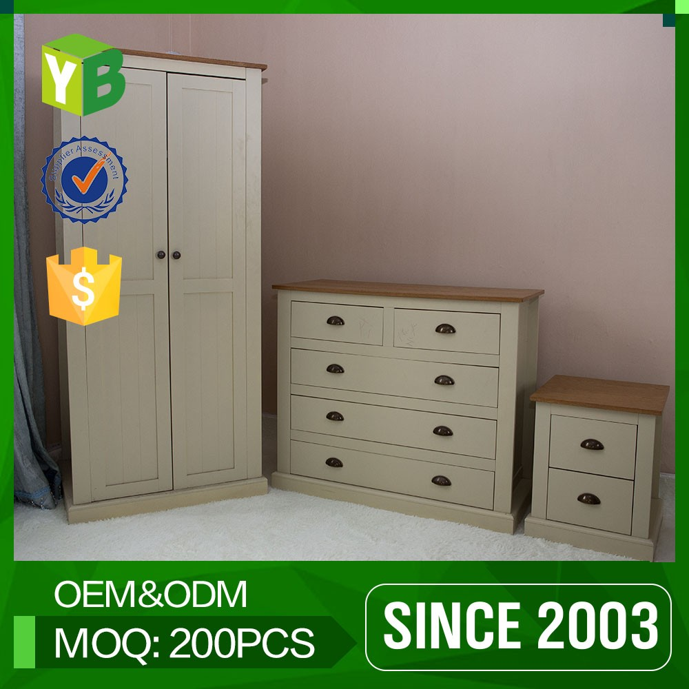 Yibang Simple Design Antique Solid Wood Armoire Wardrobe