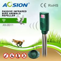 Aosion Patent Best Price Variable Frequency PIR Garden Protection sonic effective bird deterrent