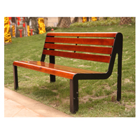 Arlau outdoor park and garden wooden benches,modern wood chair,polywood patio chair