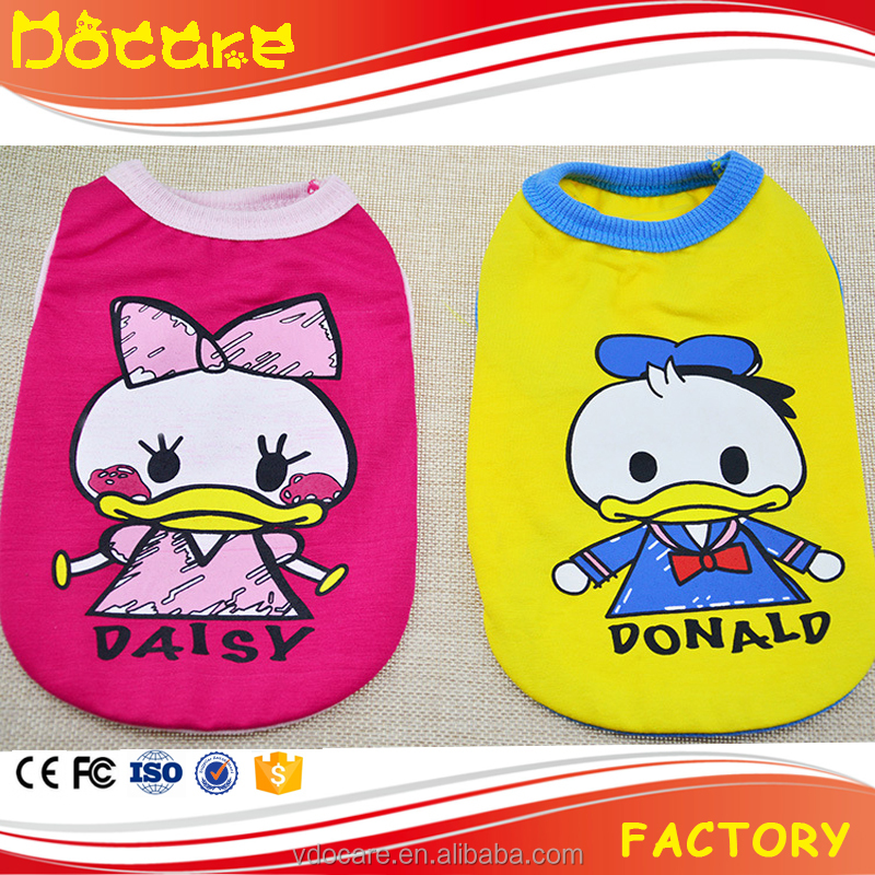 Pets Product Donald Duck Dog Cat Vest Clothing