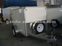 Small Square Shape Enclosed Cargo Trailer 7x4x4