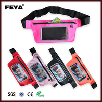 Travel outdoor waterproof waist bag running belt for sports with touch screen