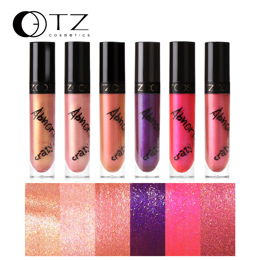 Metallic Lip Gloss Shimmer Lip Tint Liquid Lip stick For Makeup Beauty Nude Cosmetic Batom Make Up Lip Gloss In 6 Colors