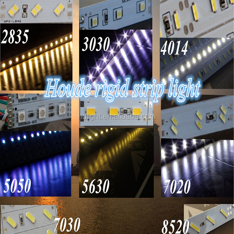 4014 led rigid bar light 144led/m 50-60lm/led show case under cabinet aluminum pcb strip 4014 smd led rigid bar