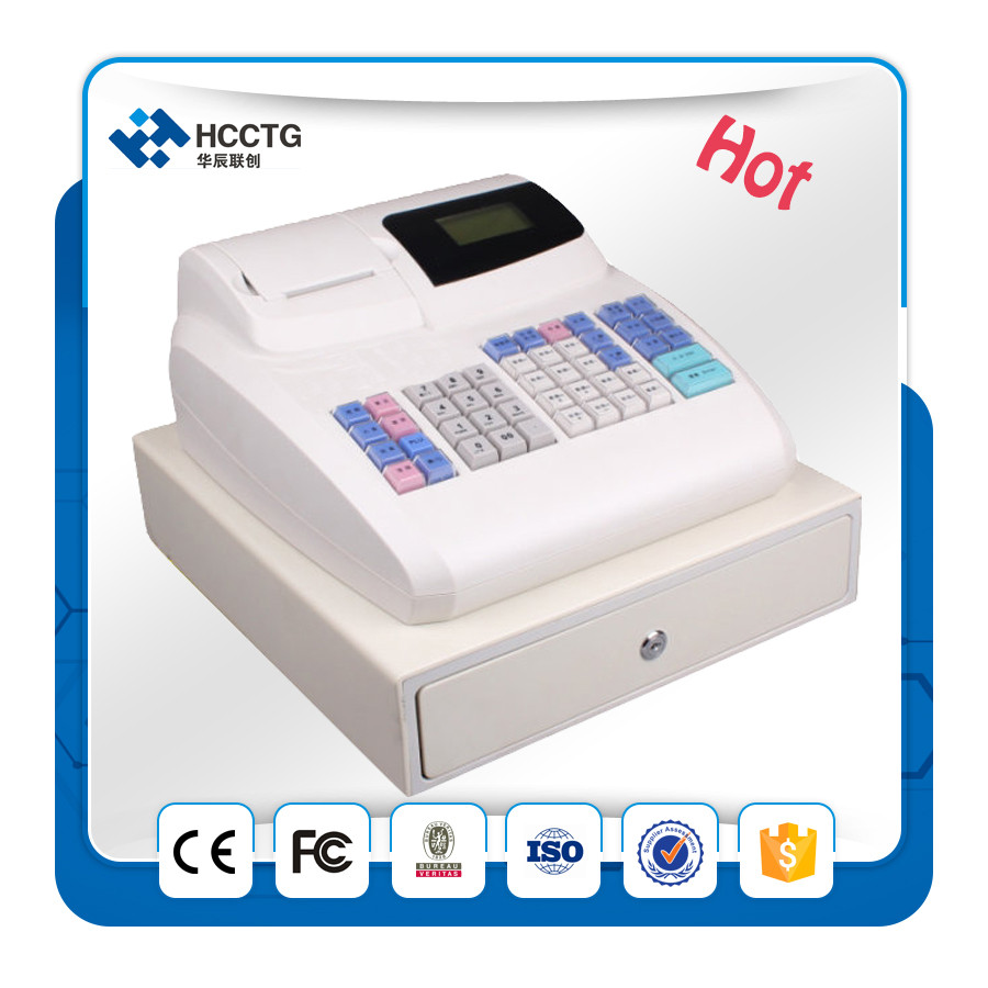 Desk Table Pos Cheap Electronic Cash Register Drawer Machine With Scanner For Sale Ecr 800