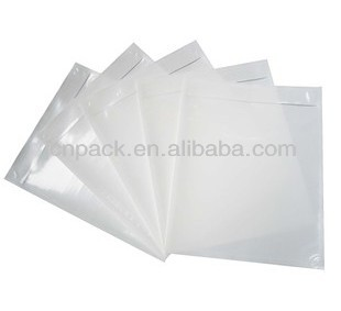 stocklot 185*300mm Clear Adhesive Back - Packing List / Shipping Label Envelope Pouches