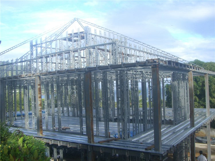 Loft plan America style greenhouse steel structure