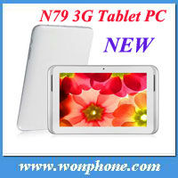 Wholesale! 7 inch IPS Tablet PC with Phone call Sanei N79 3G two Camera QUALCOMM Dual core GPS Bluetooth Android Tablet 3G