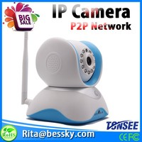 3.6mm Lens Surveillance Wireless Two-Way Speaker Baby Monitor With P2P