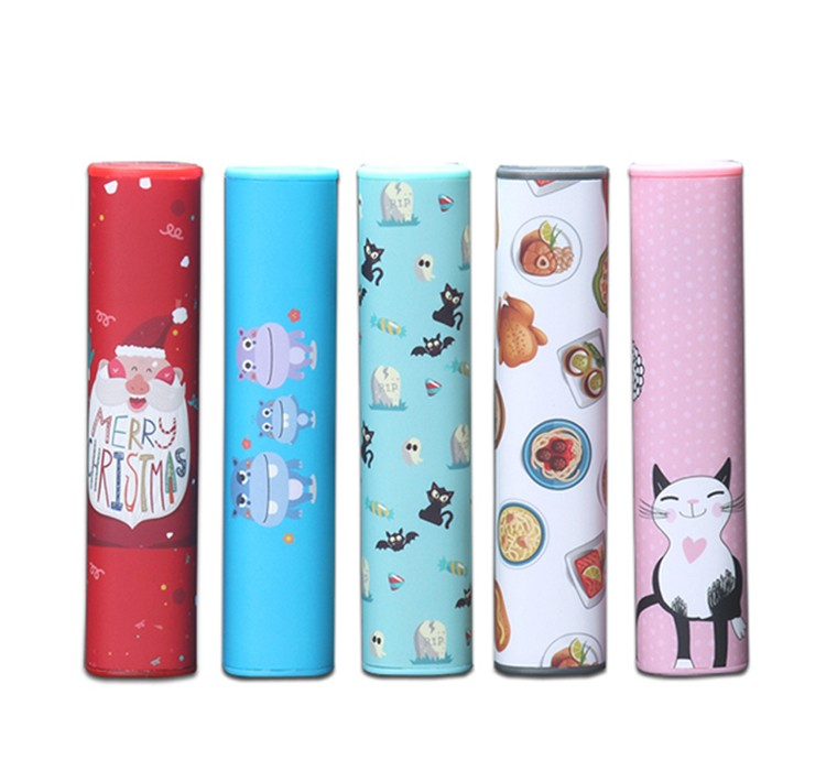 Multicolor Sticker Surface Mini Lover Power Bank 2600mAh