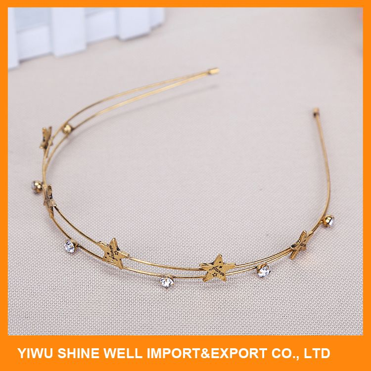 Most popular different types metal headband for ladies directly sale