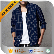 2016 new design pattern men's casual slim shirt bush tops plaid shirts