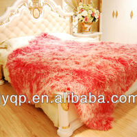 Wholesale Tibetan Mongolian Lamb Fur Blanket
