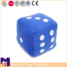 Best quality plush toy factory custom fuzzy printed embroidery stuffed plush dice