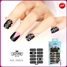 Wholesale nails supplies nail art accessories sticker professional DIY nail stencil