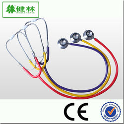 Dual head stethoscope for teaching use
