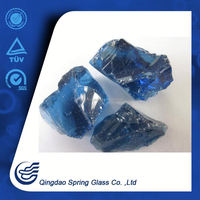 Ocean Blue Glass Rocks For Garden Dry and Clean