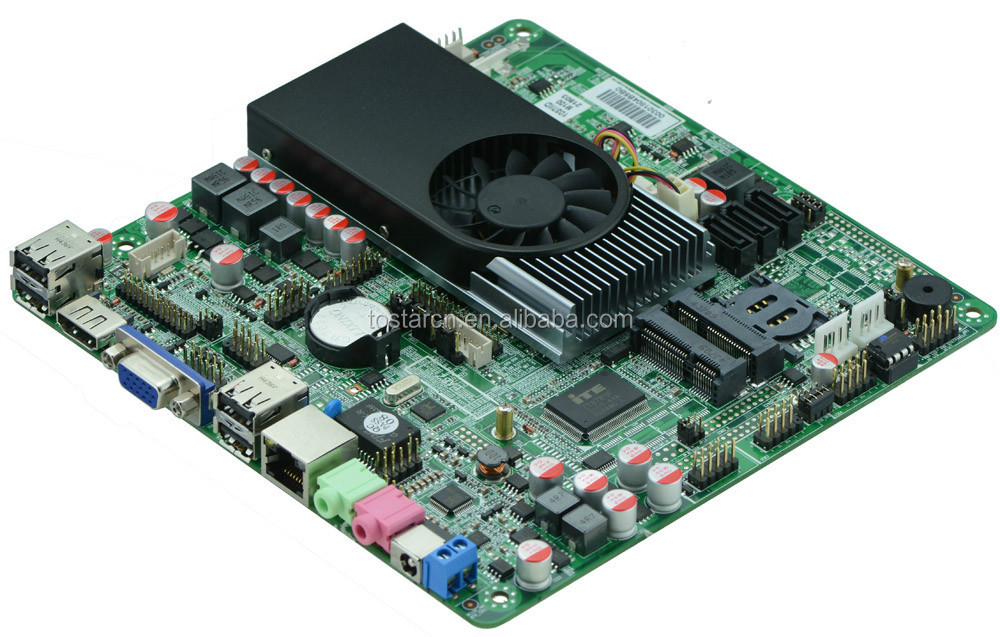 Intel Celeron 1037U Thin Mini ITX Motherboard, HTPC Mainboard