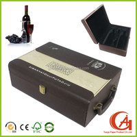 new style customized luxury leather wine carrier box for luxury wines packaging