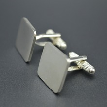Custom Metal Cufflink no minimum Blank Cufflink Cufflinks for Men