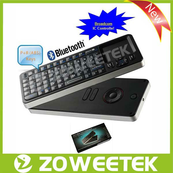 For Sharp Smart TV Bluetooth 3.0 Keyboard With Universal Remote Control