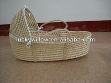 high quality and cheap maize mose basket/willow baby basket