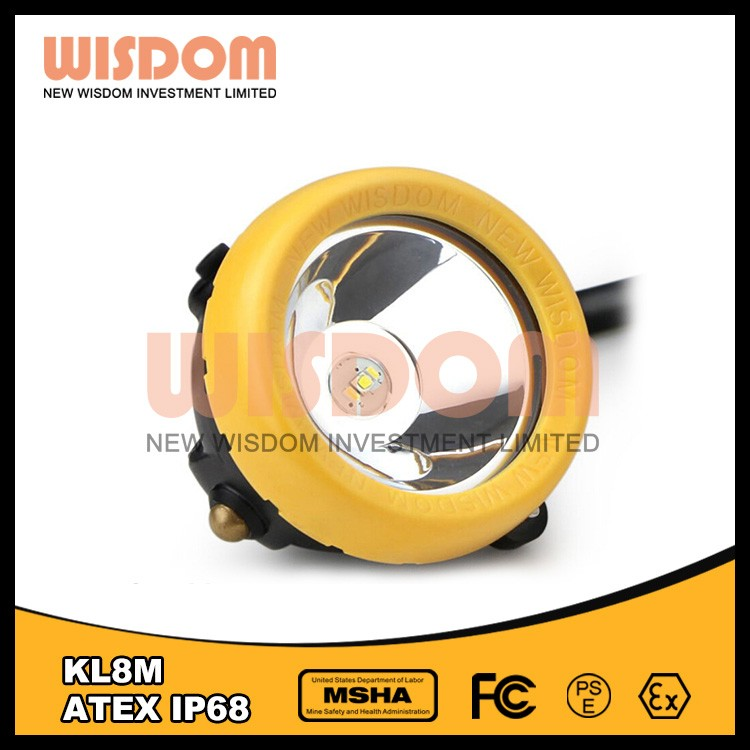 Wisdom KL8M High quality mining helmet light and helmet