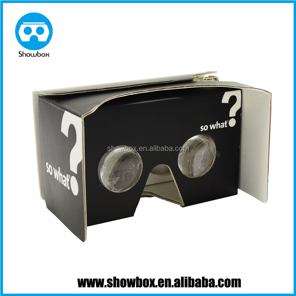 Paper 3d glasses cheap google cardboard virtual reality glasses for smartphone 3d video, 3d games supplier