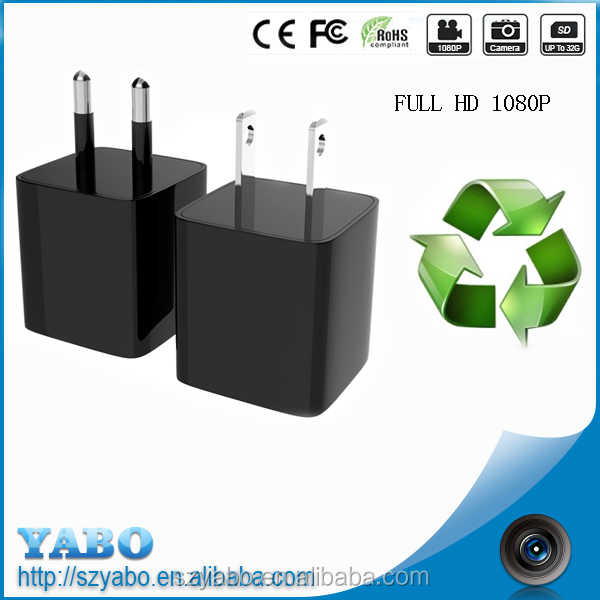 Full HD 1080p Super Mini Power Plug Camera Charger very very small hidden Camera In The Charger