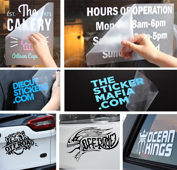Decorative Car Window Static Sticker, Advertising Car Window Static Sticker