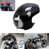 ZJMOTO MOTORCYCLE HEADLIGHT FAIRING CAFE RACER CUSTOM CRUISER BOBBER CHOPPER DYNA TOURING FIT TO HARLEY