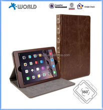 vintage book style 360 degree rotating leather case for ipad mini 4, leather case cover for ipad mini 4