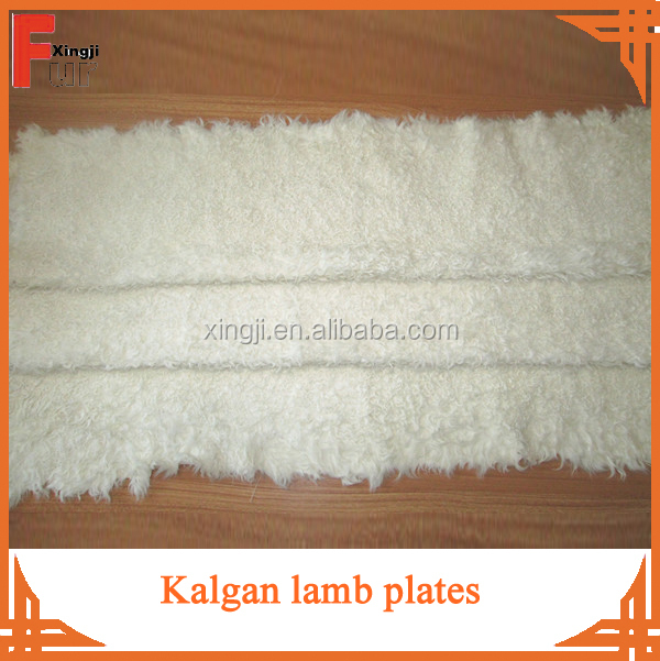 Dyed blue color top quality tianjin lamb fur plate