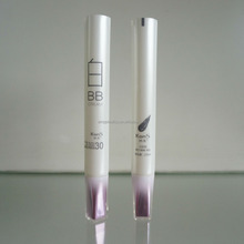 luxury cosmetic packaging plastic tube with arcylic screw cap for BB cream
