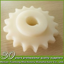 Plastic sprocket wheel