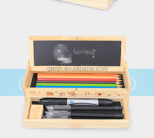 Cheap Price Wooden Multifunctional Pencil Holder Case