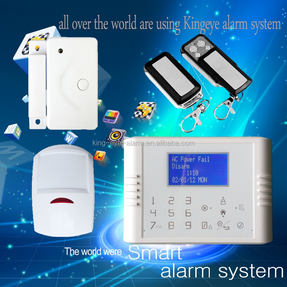 433mhz gsm+pstn dual network burglar alarm system with back up <strong>battery</strong>