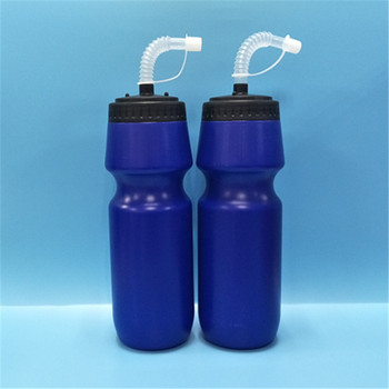 Xiamen factory plastic water bottle with straw