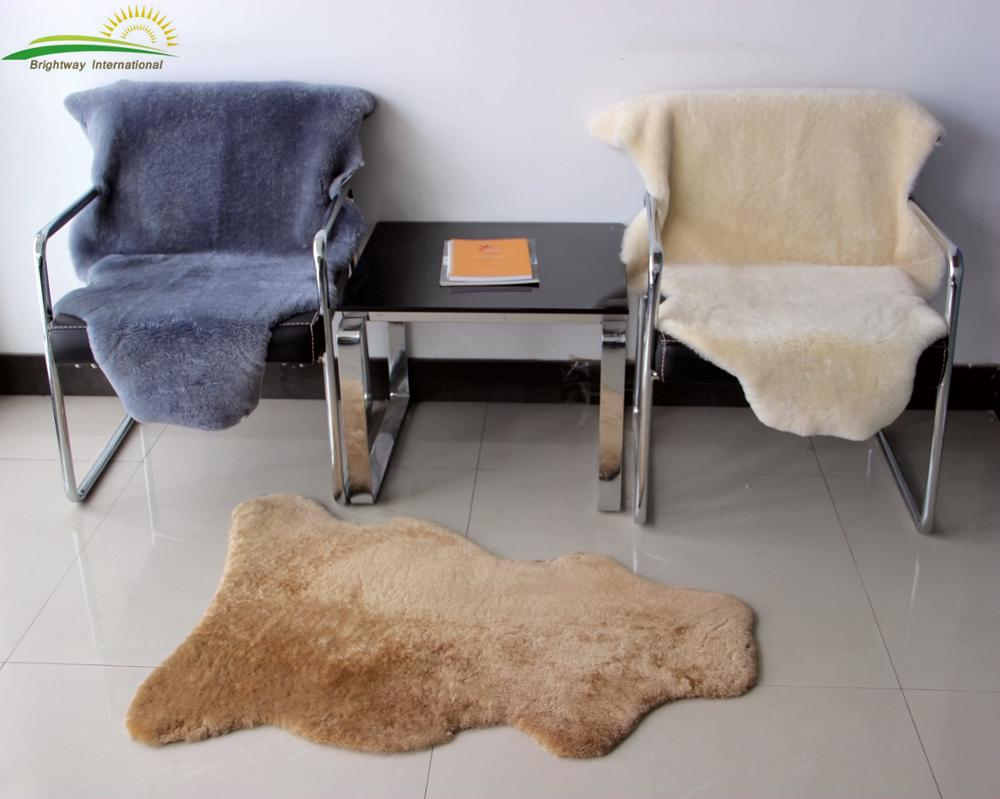 Australian real sheepskin sheared straight wool Rug