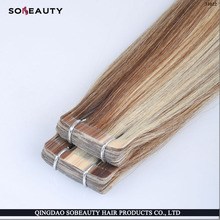 High Quality Waterproof Mixed Color Double Drawn Tape Hair Extension