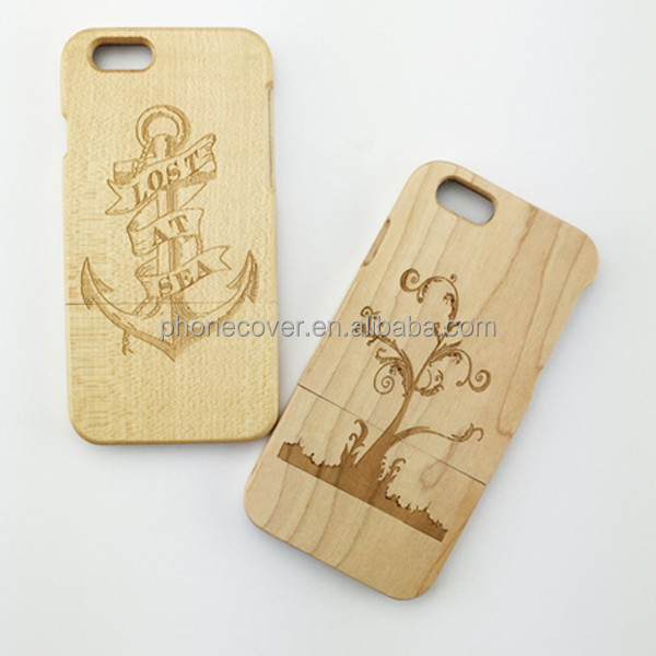 2 in 1 Natural wood phone cover/two pieces crafting design cover for iphone5 for iphone6
