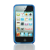 High Quality S Shaped TPU Shell Case for iPod touch4