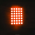 amber 600nm dot matrix led display 4.5 mm