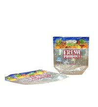 OEM Factory Food safe transparent plastic packag with logo print fresh fruit/transparent safe food grade plastic bags for fruit